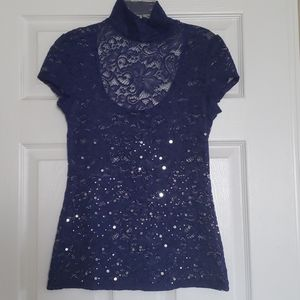 Express Size Small Lace Open Back Top